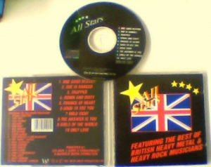 All Stars CD Featuring the Best of British Heavy Metal n Heavy Rock Musicians. West Coast 1991