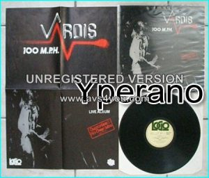 VARDIS: 100 MPH Live LP, (11 songs) 1980 + poster. Classic N.W.O.B.H.M Check audio samples.