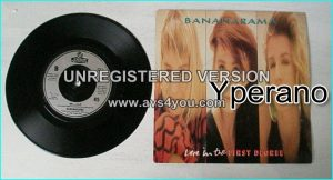"BANANARAMA: Love in the first degree 7"". Check video"