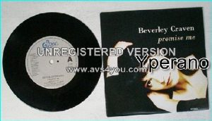 "Beverley CRAVEN: Promise Me 7"". Check video"