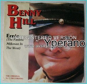 "BENNY HILL: Ernie (The Fastest milkman in the west) + Thing-A-Ling-A-Loo -classic and really funny 7"" Check video."