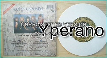 "WHITESNAKE: Give Me All Your Love (edit) 7"" + Fool for you loving [Special Edition in White Vinyl] Check video"