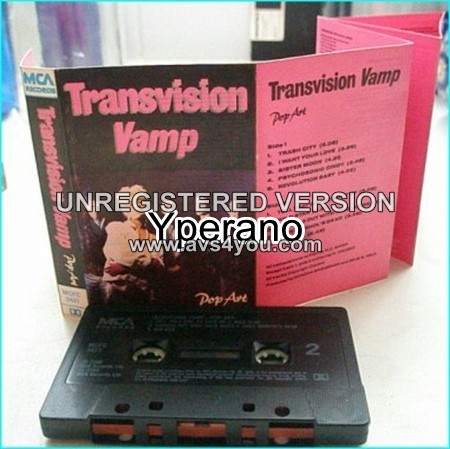 TRANSVISION VAMP: Pop Art [tape] Check video