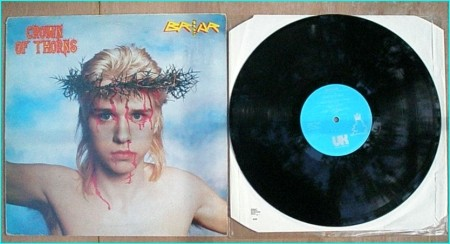BRIAR Crown Of Thorns LP [cover versions of La Bamba, The Boys are back in Town] early DEF LEPPARD / BRONZ. Check video