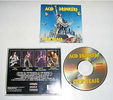 ACID DRINKERS: Strip Tease CD. good time Heavy Metal. Unique cover versions Seek and Destroy (Metallica) (Monty Pythons)