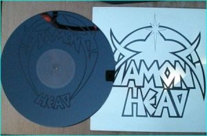 DIAMOND HEAD PROMO DHS1 Wild On The Streets Cant Help Myself superb laser etched band logo image.