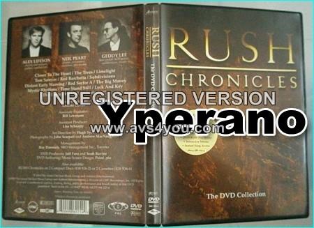 RUSH: Chronicles DVD