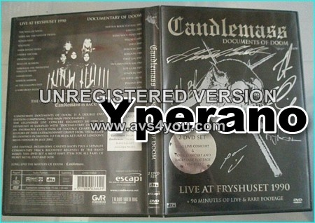 CANDLEMASS: documents of doom DOUBLE DVD SIGNED