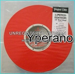 "KINGDOM COME: Overrated 10"" ltd. UK RED VINYL, b/w Just Like A Wild Rose, The Perfect O (live) The Wind (live). Check videos"