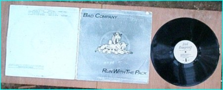 BAD COMPANY Run With The Pack LP Gatefold. Shiny, silver cover. Paul Rodgers Check samples