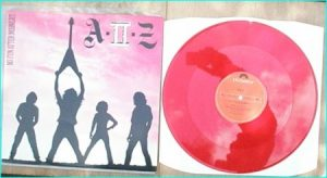 "A-II-Z: No Fun After Midnight 12"" Red Vinyl. RARE N.W.O.B.H.M. Check sample"
