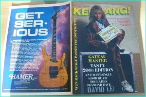 KERRANG - No.200 DAVID LEE ROTH, Exodus, Overkill, Iron Maiden, Apollo Ra