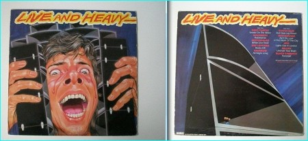 LIVE AND HEAVY Heavy Metal / Hard Rock compilation LP [Live versions of the most well known songs bands. Great inner]