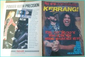 KERRANG - No.220 Lemmy Motorhead Tom Araya Slayer Cover, Mr.Big, Horse, Anthrax, Wolfsbane, Bulletboys, Jeff Healey