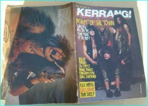 KERRANG - No.241 (1989 VAIN cover, 24-7 Spyz, W.A.S.P, Bang Tango, Kingdom Come, Black Sabbath, King Diamond, Torino