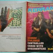 KERRANG 122, June1986 QUEENSRYCHE, big spread on Saxon playing in Athens, Greece
