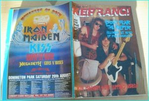 KERRANG - No.199 HELLOWEEN, Satriani, Death, Jimmy Page, Stone, D Molls, Vain, Stage Dolls, LA Guns