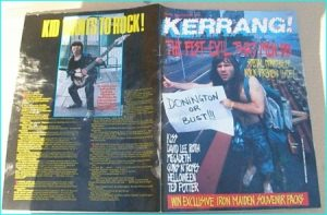 KERRANG - No.201 Bruce Dickinson Iron Maiden Monsters of Rock issue, Kiss, David Lee Roth, Megadeth, Guns N Roses, Helloween