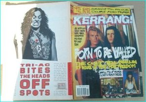 KERRANG - No.266 ( Cult Cover, Rush, Joe Satriani, Great White, Skid Row, Whitesnake, Rush, Guns N Roses, Saraya Poster