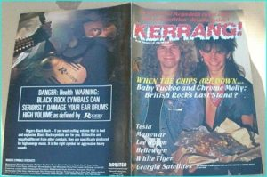 KERRANG - No.139 [Baby Tuckoo / Chrome Molly cover, Manowar, Helloween, White Tiger, Rods, Q5, Malice, Lee Aaron, Tesla