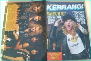 KERRANG - No.173 David Lee Roth cover, Cozy Powell, Mike Monroe, Fastway
