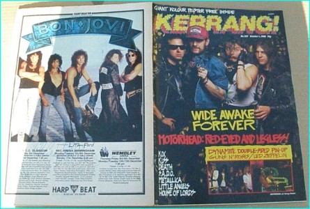 KERRANG - No.207 OCT 1988 MOTORHEAD COVER, Death, Metallica, Ozzy, Kiss, House of Lords, Little Angels