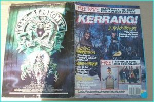 KERRANG - No.333 Judas Priest cover , Guns N Roses, Tad, Alice In Chains, Seputlura, Heathen, Lynch Mob, Steelheart, Whitesnake