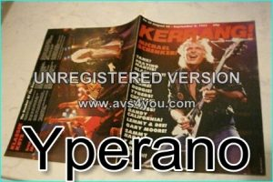 KERRANG NO. 23 AUG 1982, MSG, Budgie, Mamas Boys, Blackfoot, Budgie, Tygers of Pan Tang, Cheetah, Tank, Rock Goddess