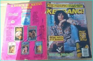 KERRANG - No.278 , 1990 AEROSMITH pin-up, Iron Maiden, Quireboys flexi, Overkill, Love Hate, Gang Green, Kai Hansen