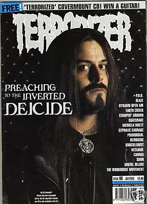 TERRORIZER 80. JUL 2000. DEICIDE, PRIMORDIAL, SUNNO))) Mint condition includes CD with 12 songs
