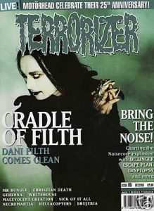 TERRORIZER 85. DEC 2000 Cradle of Filth, Gehenna, CRYPTOPSY Mint condition