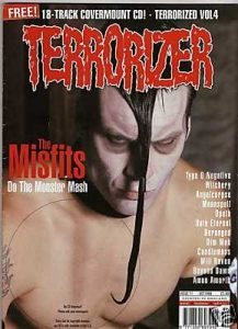 TERRORIZER 71. OCT 1999 MISFITS, TYPE O NEGATIVE, OPETH, Candlemass, Deragned, Whichery. Mint condition incl. CD w. 17 songs