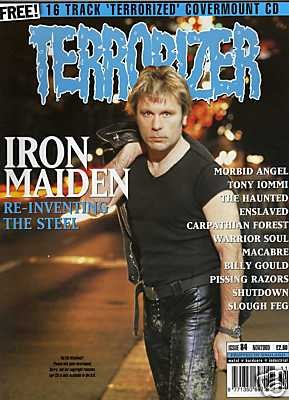 TERRORIZER 84. NOV 2000 IRON MAIDEN, ENSLAVED, MACABRE Mint condition includes CD with 16 songs