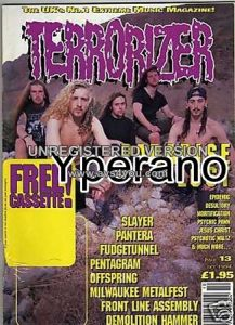 TERRORIZER 13 OCT 1994 PARADISE LOST - PANTERA - SLAYER, Pentagram, Offspring. Mint condition includes free tape