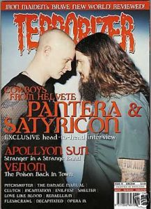 TERRORIZER 79. JUN 2000. PANTERA, SATYRICON, VENOM, APOLLYON SUN, Decapitated Mint condition