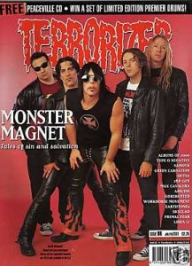 TERRORIZER 86. JAN 2001 MONSTER MAGNET, ZYKLON, SKYCLAD Mint condition includes PEACEVILLE CD with 15songs