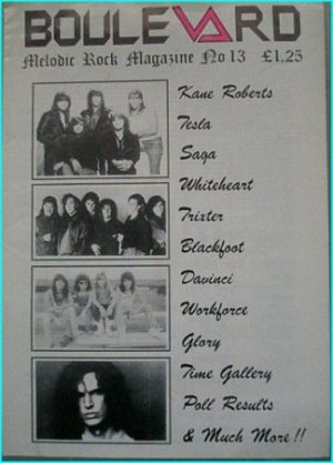 Boulevard Melodic Rock Magazine 13, Kane Roberts, Tesla, Saga, Whiteheart, Trixter, DaVinchi, Glory, Time Gallery, Blackfoot-