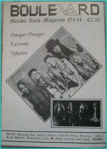 Boulevard Melodic Rock Magazine 14, Danger Danger, Extreme, Tyketto, Shooting Star, Saraya, Neslon, Tour De Force, Highwire