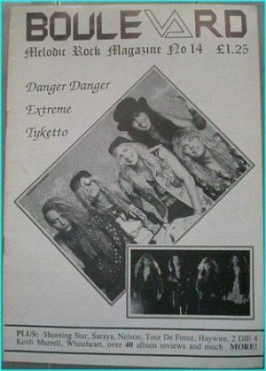 Boulevard Melodic Rock Magazine 14, Danger Danger, Extreme, Tyketto, Shooting Star, Saraya, Neslon, Tour De Force, Highwire