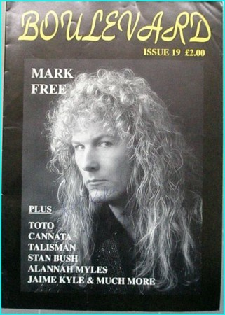 Boulevard Melodic Rock Magazine 19 SIGNED autographed by MARK FREE Toto, Cannata, Talisman, Stan Bush, Alannah Myles, Jaime Kyle