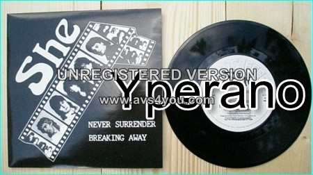 "SHE: Never Surrender 7"" + Breaking Away [Rare N.W.O.B.H.M + Hard Rock single] Check videos"