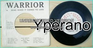 "WARRIOR: Dead when it comes to Love 7"" + Stab in the back + Kansas City. Great N.W.O.B.H.M."