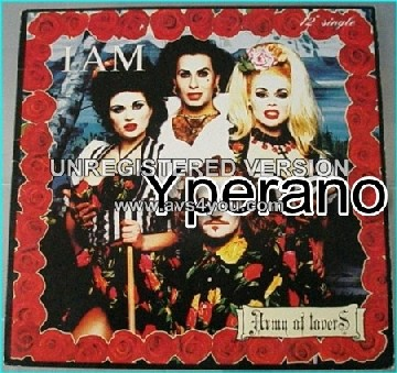 "Army of Lovers: I am 12"" vinyl (29 minutes of music). Check video"