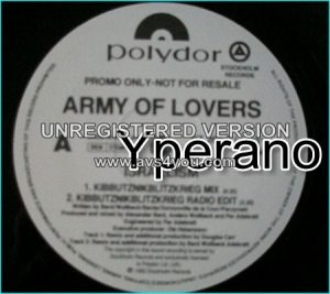 "Army of Lovers: Israelism promo 12"" vinyl (20 minutes of music). Check video"