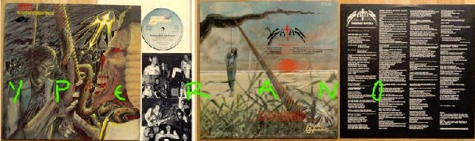 SATAN: Suspended Sentence LP NWOBHM with 2 Skyclad full members (1990 to today). 1st press. Check audio samples