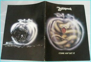 Whitesnake come an get it 1981 tour programme