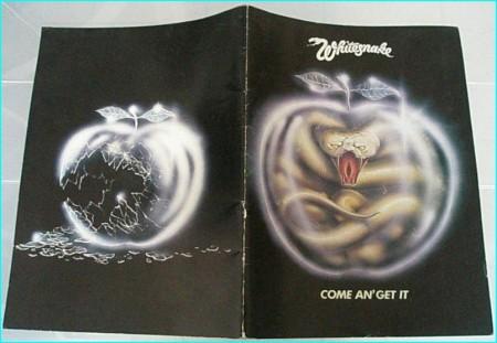 Whitesnake come an get it 1981 tour programme