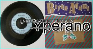 "Bryan ADAMS: Christmas Time + Reggae Christmas 7"" Check video"