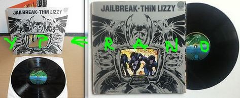 THIN LIZZY: Jailbreak LP Gatefold sleeve UK VERTIGO 1st Issue.