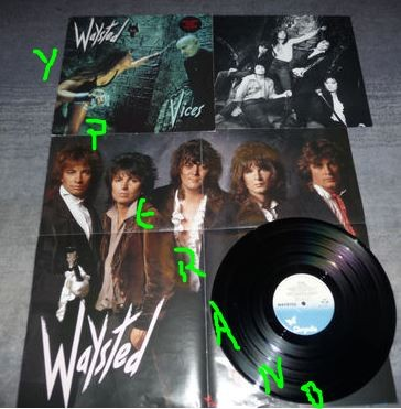 WAYSTED: Vices LP with big POSTER & a Jefferson Airplane cover. Check audio!